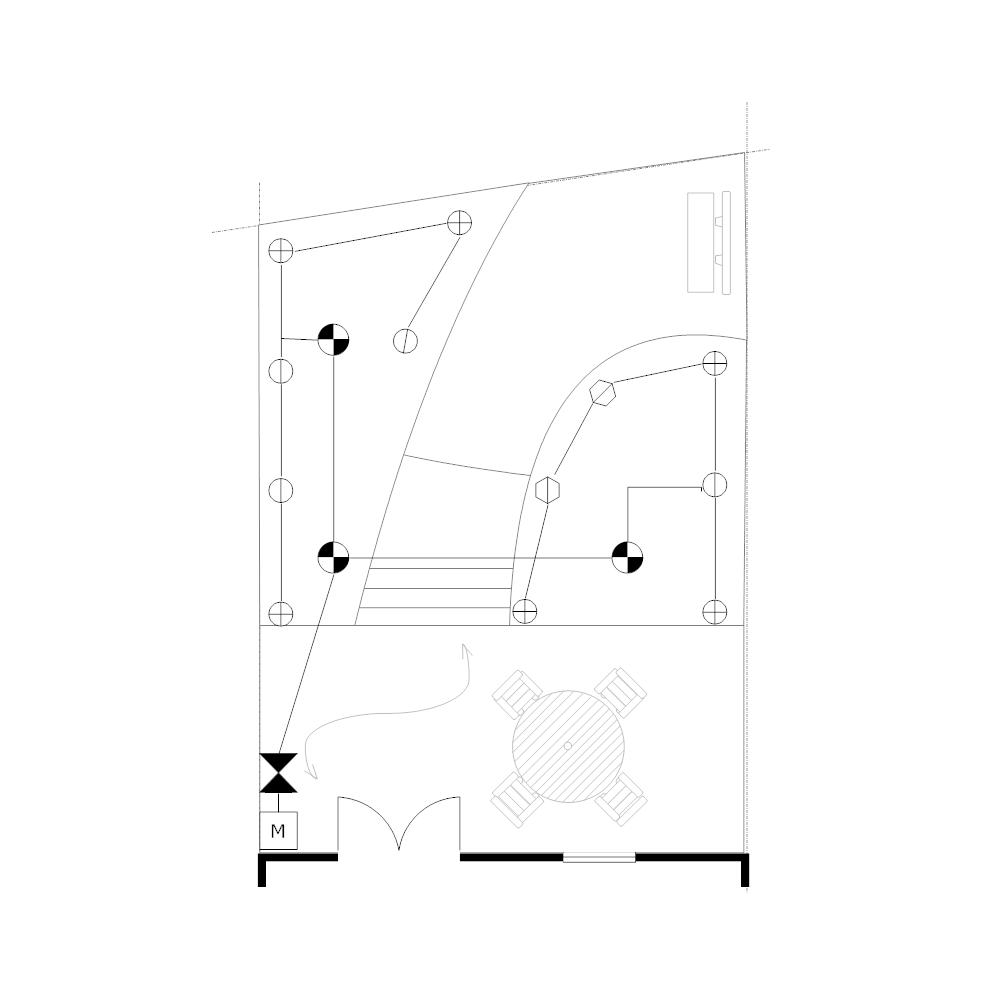 Example Image: Irrigation Plan - Backyard