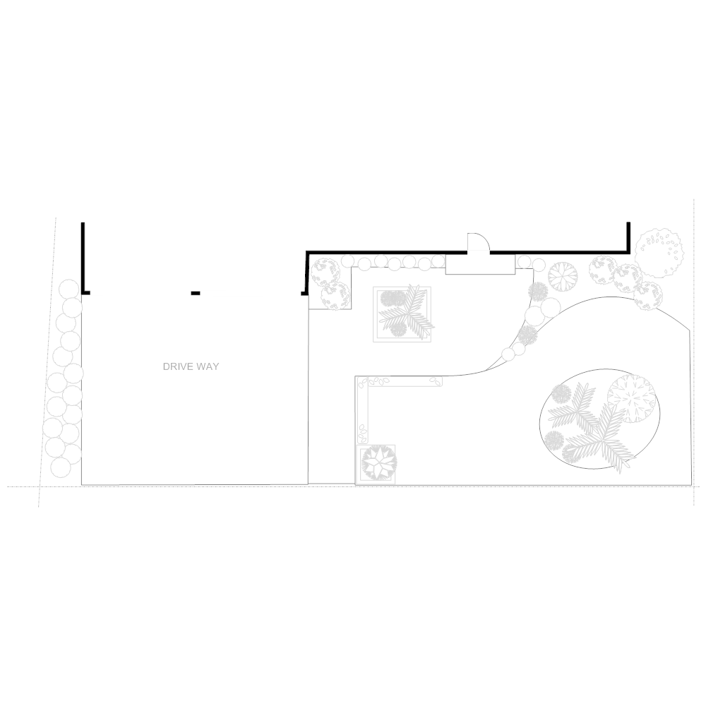 Example Image: Irrigation Plan - Front Yard