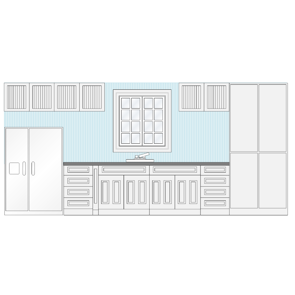 Kitchen Floor Plans And Elevations: Kitchen Elevation
