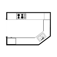 Country Kitchen Floor Plan
