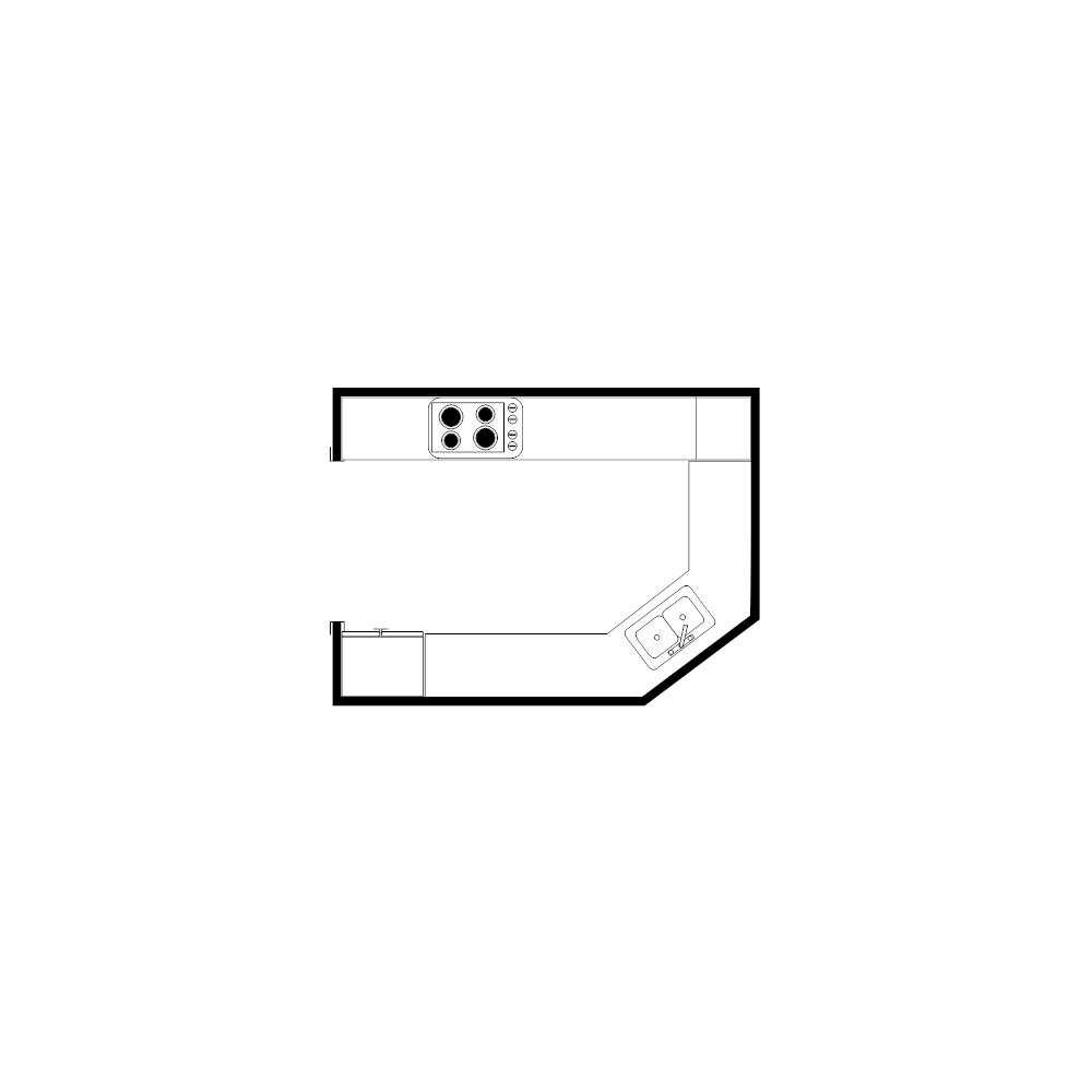 Country Kitchen Floor Plan - Square kitchen floor plans