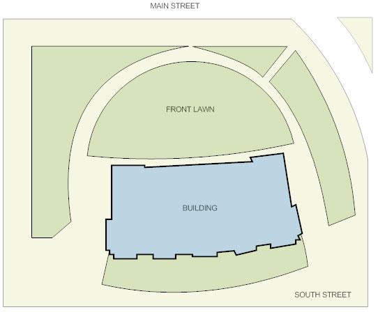 Brick landscape design