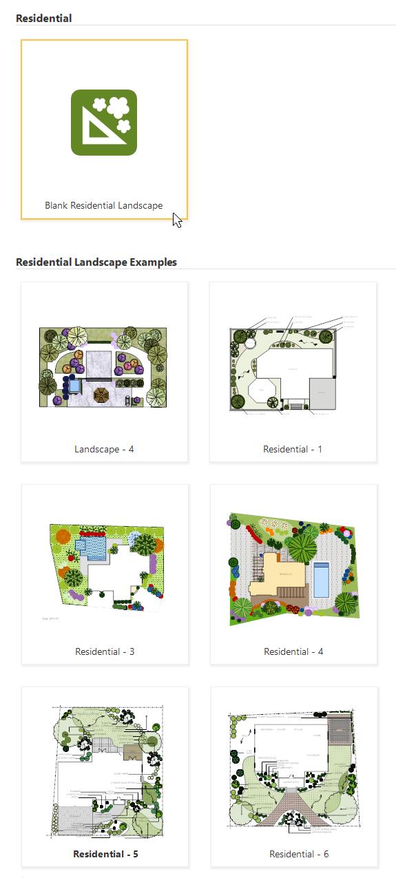 Landscape templates