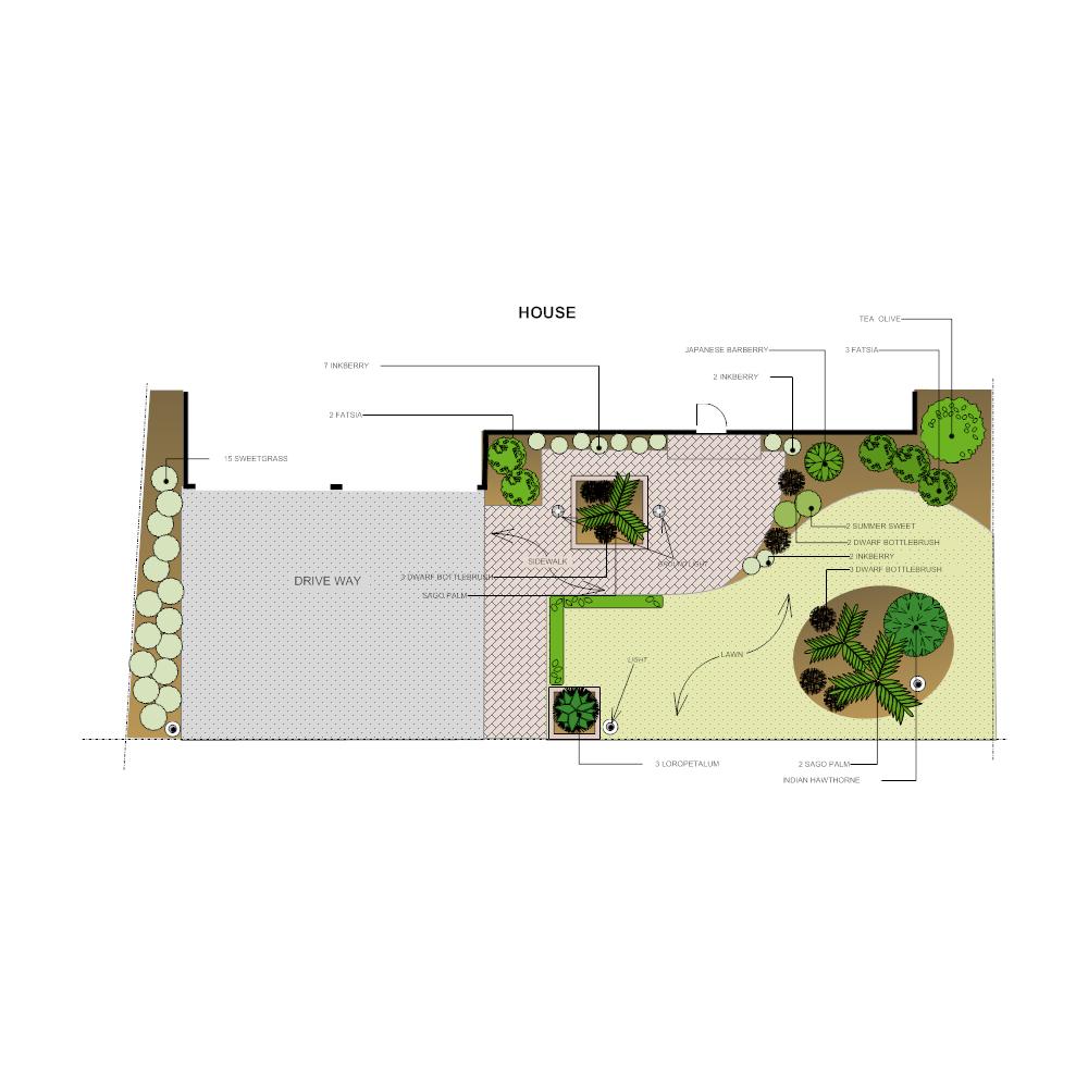 Example Image: Front Yard Landscape Design