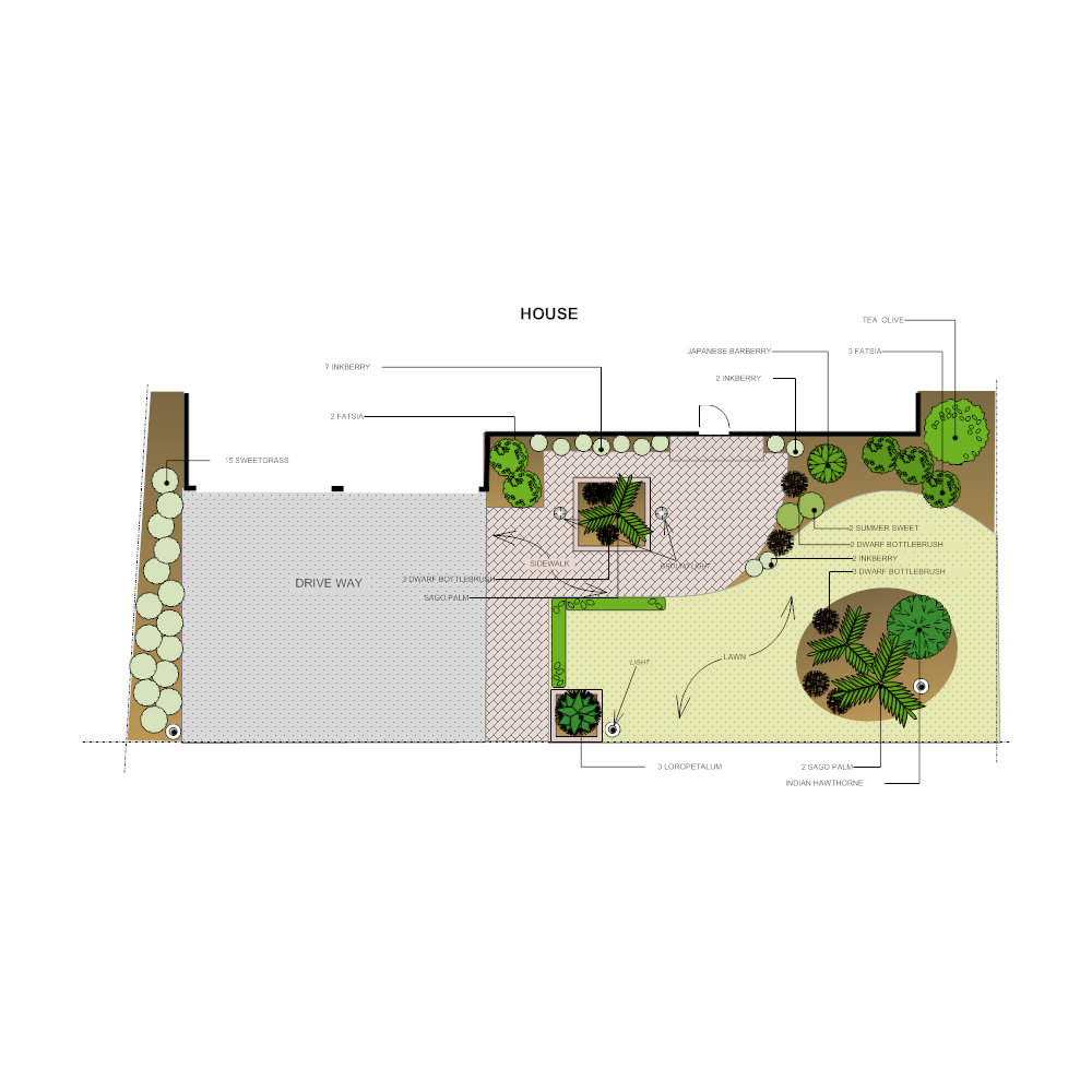 Front yard landscape design click to edit this example example image front yard landscape design malvernweather Image collections
