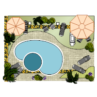 Landscape Design with Pool