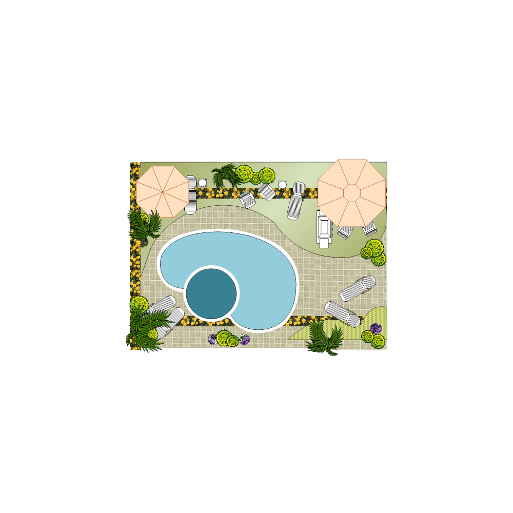 Landscape design with pool for Pool design templates