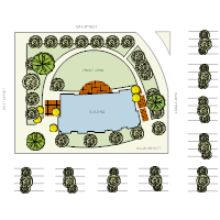 Landscape design templates office landscape plan malvernweather Image collections