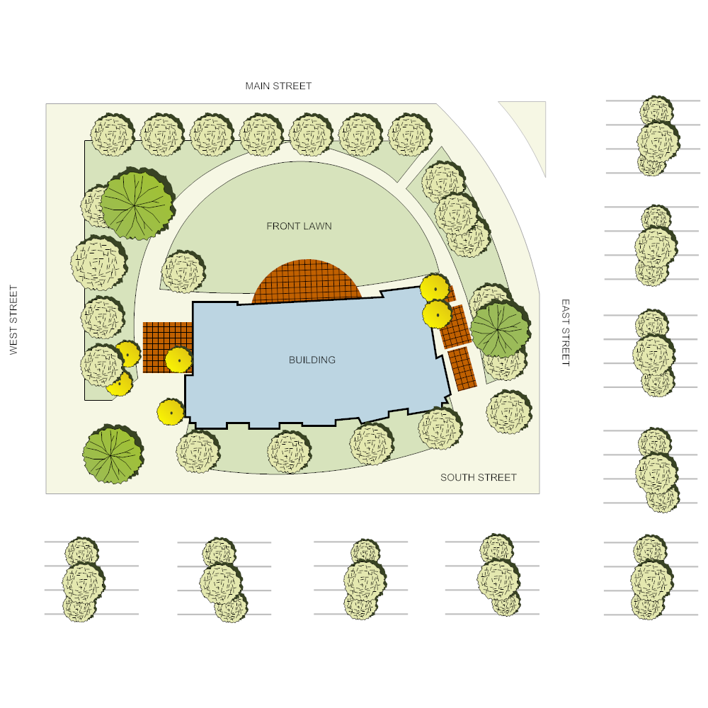 Example Image: Office Landscape Plan