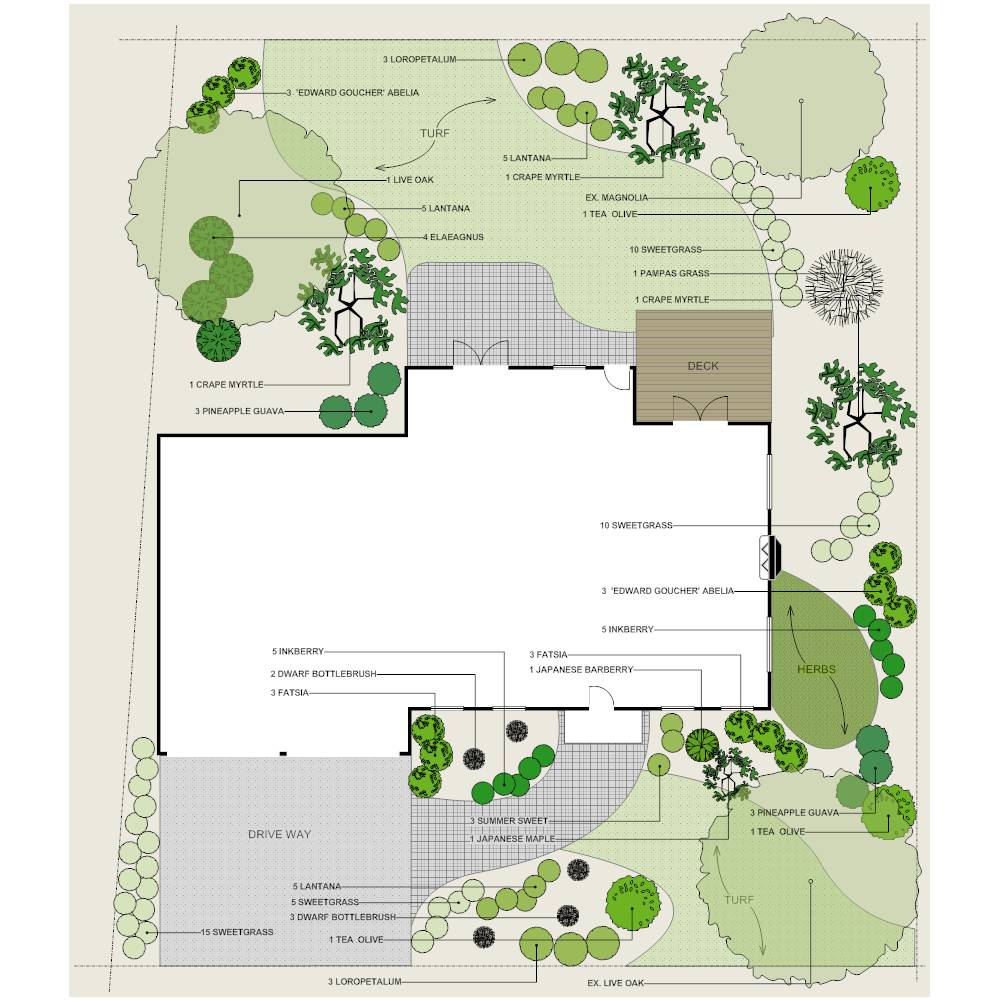 Residential landscape plan for Residential landscape plan