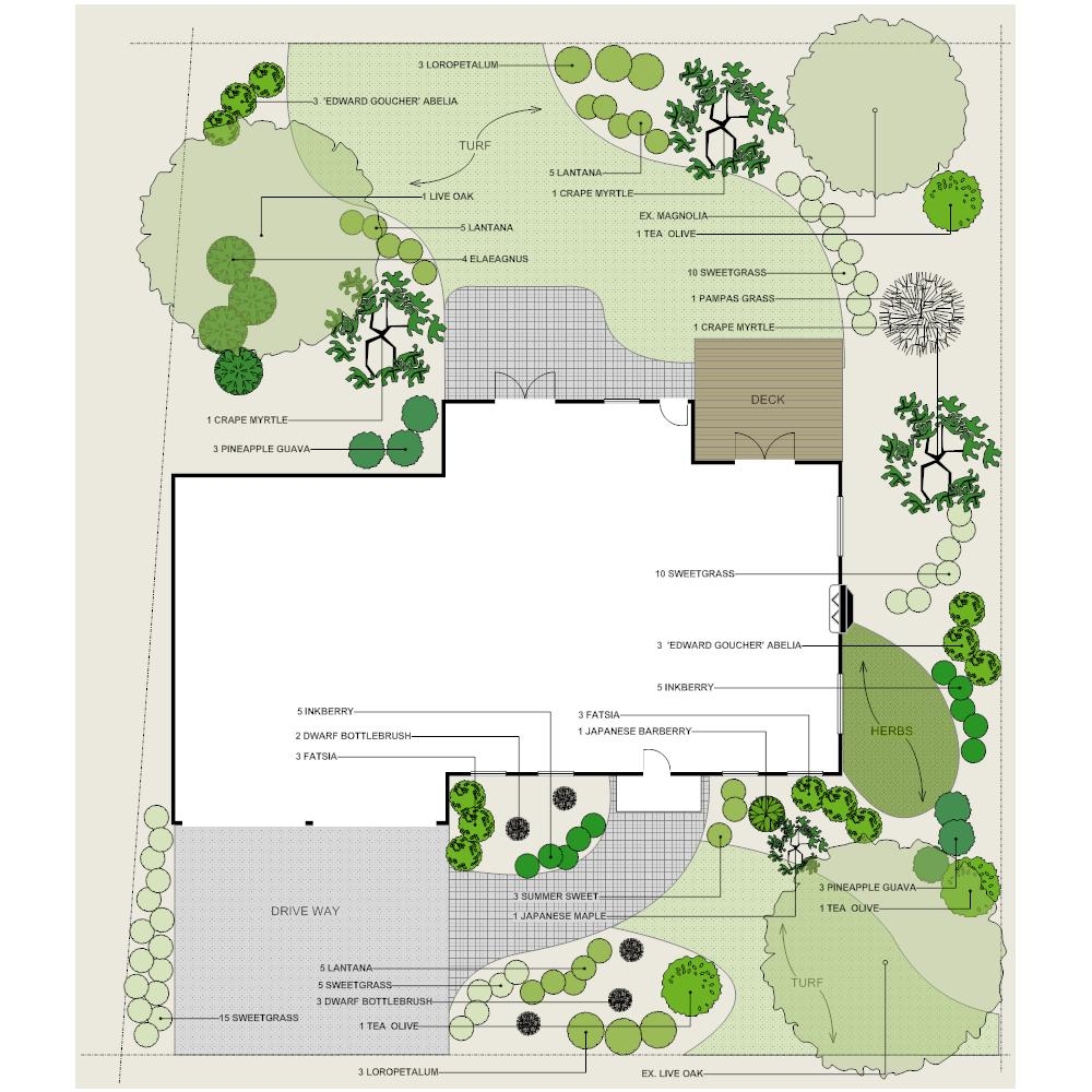 Landscape Design Outdoor Construction Residential: Residential Landscape Plan
