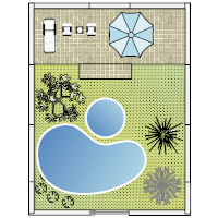 Yard with Pool Design
