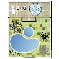 Yard with Pool Design