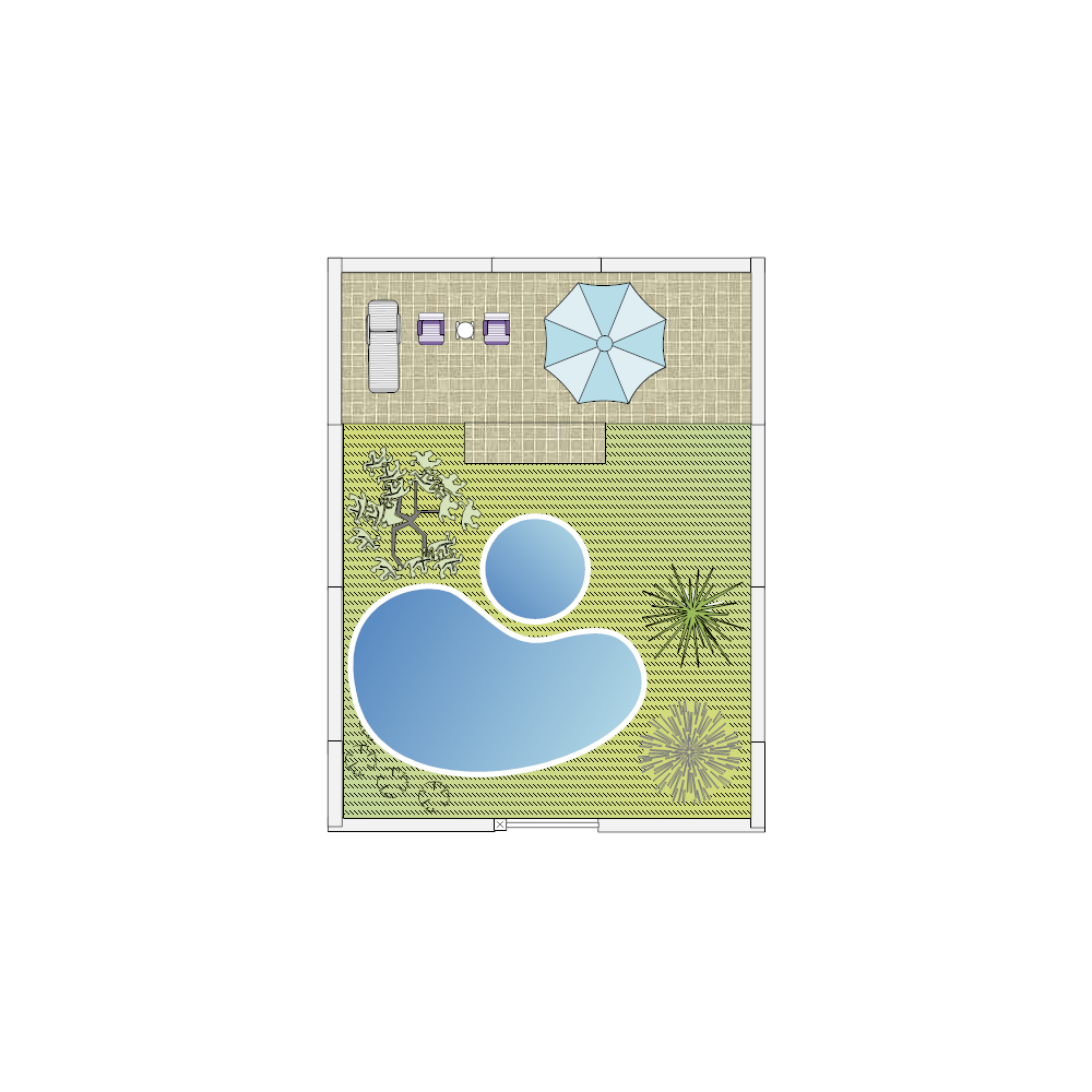Yard with pool design for Pool design templates