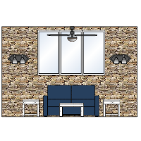 Living Room Elevation