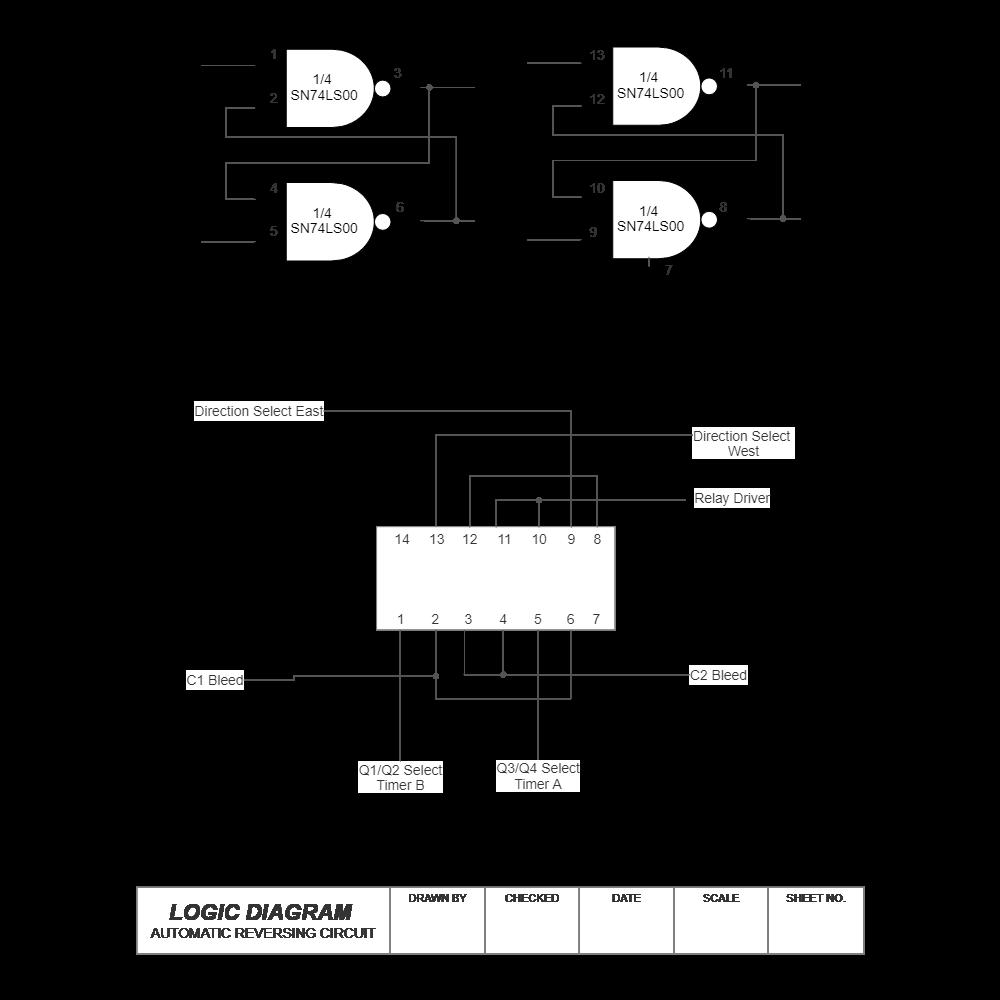 Example Image: Logic Diagram - Auto Reversing Circuit