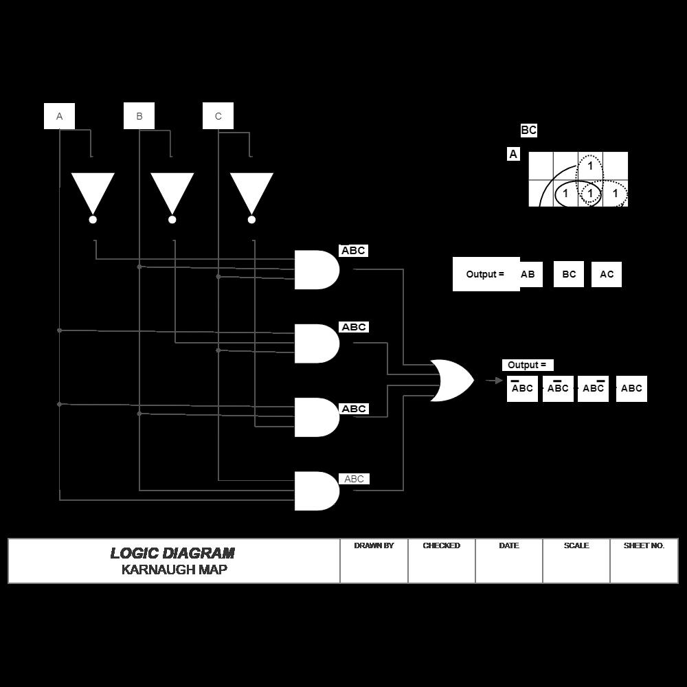 logic diagram - karnaugh map logic diagram drawer