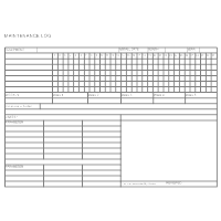 maintenance form templates