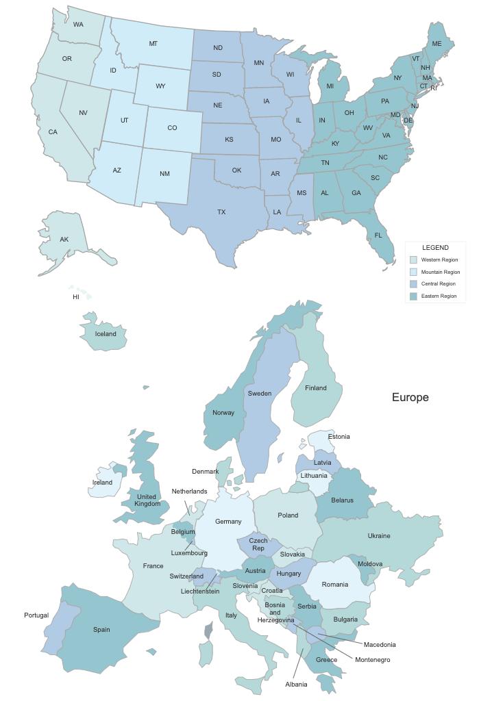 Digital map templates