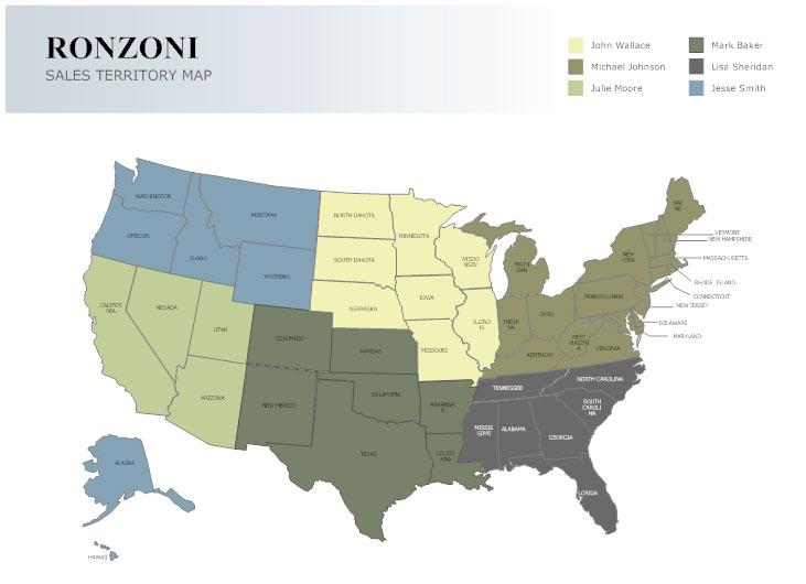 Sales territory map