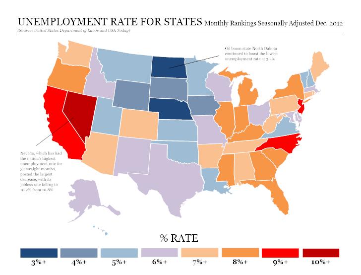 Unemployment map