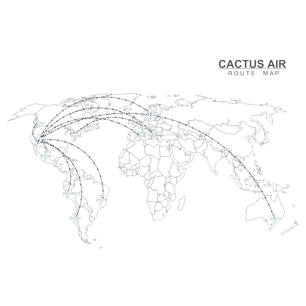 Example Image: Airline Route Map