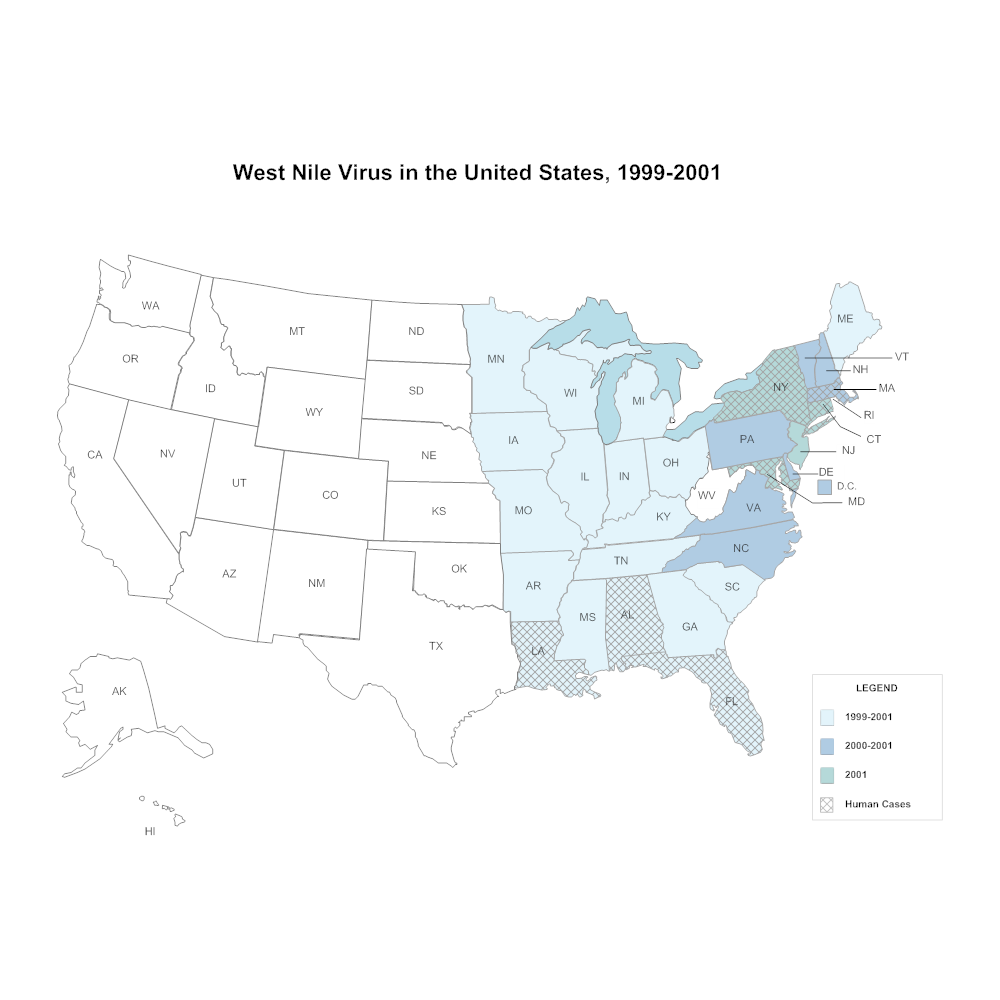 CDC USA Map Cdc Map on