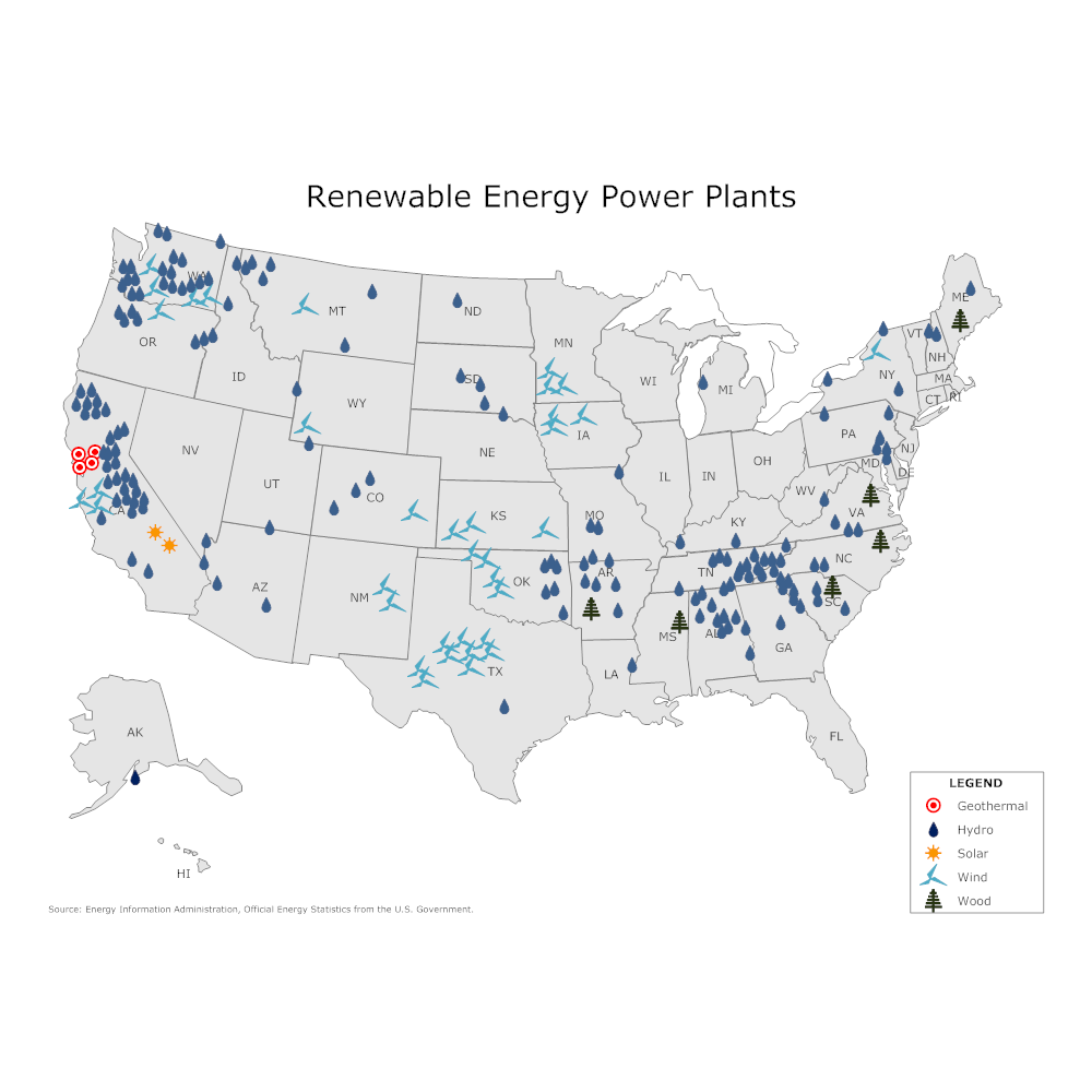 Plant Site Map Examples: Renewable Energy Power Plant Map