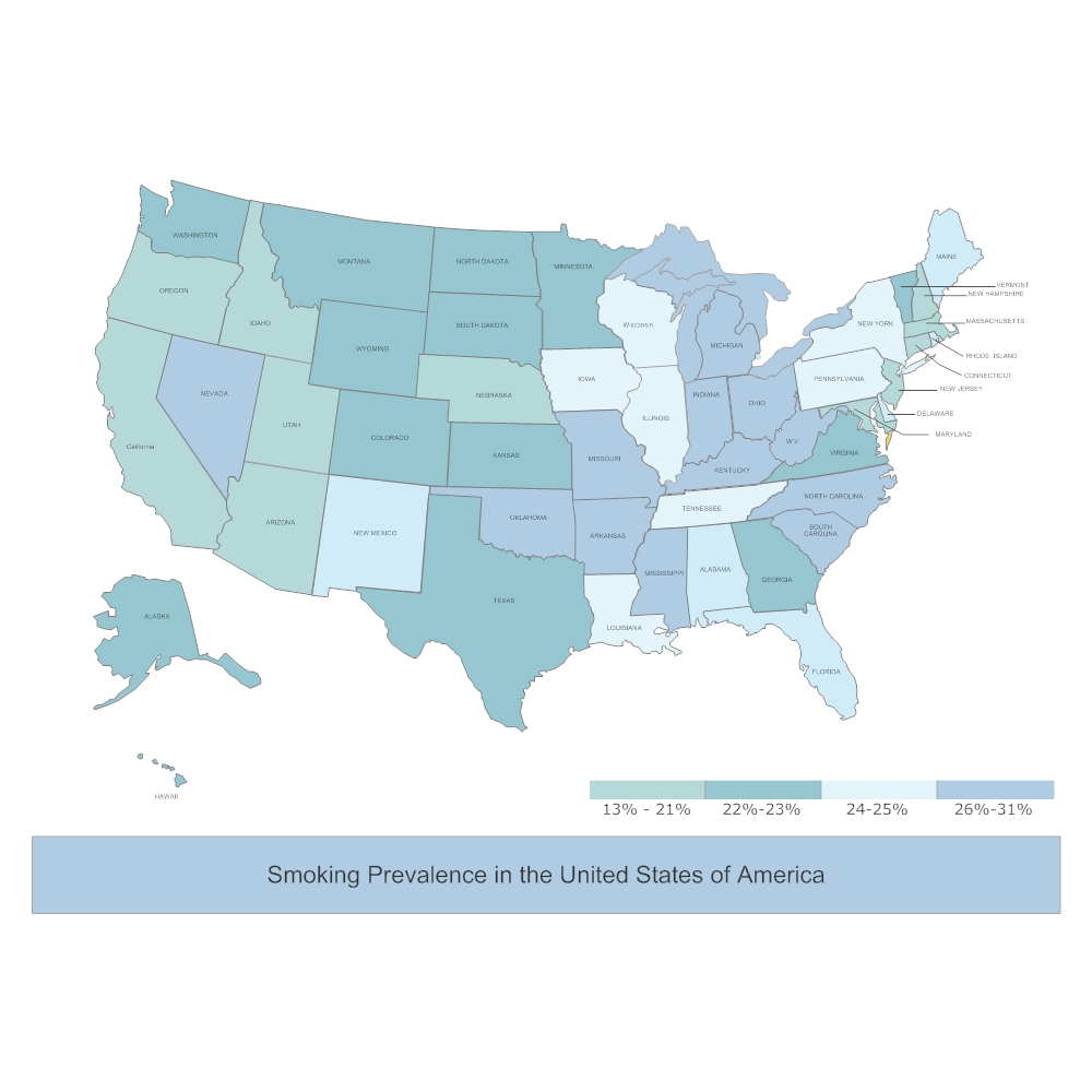 Example Image: Smoking in the USA Map