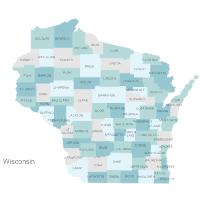 Wisconsin Counties Map