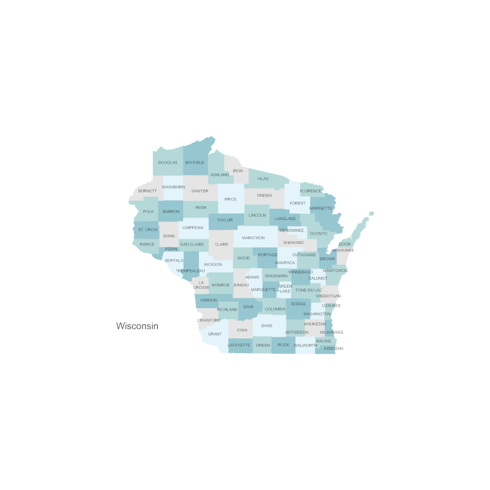 Example Image: Wisconsin Counties Map