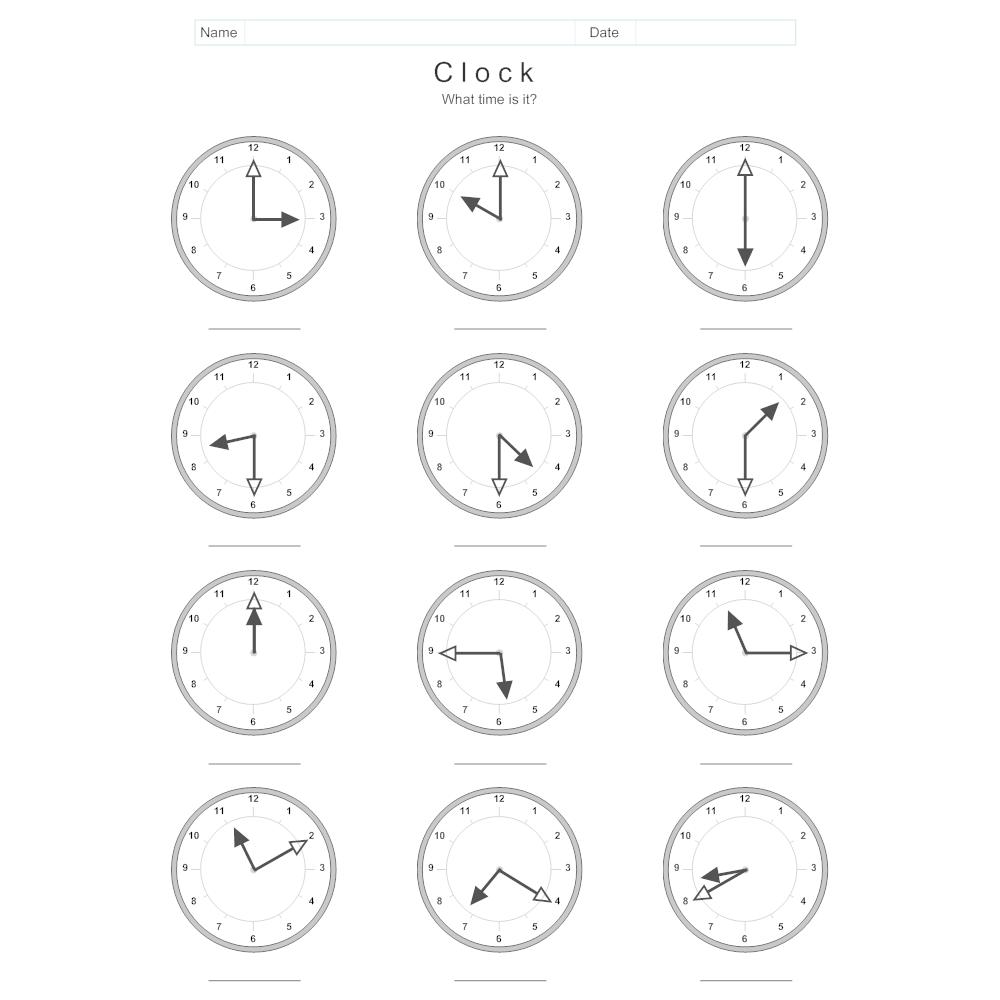 clock and time worksheet clock diagram of breast clock diagram #7