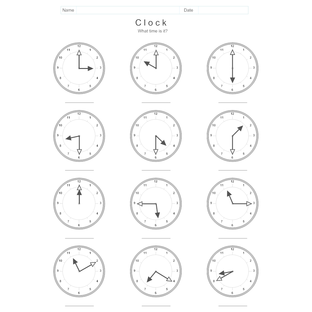 Clock And Time Worksheet