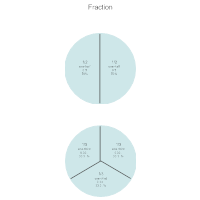 Math Chart - One Half & One Third Fractions