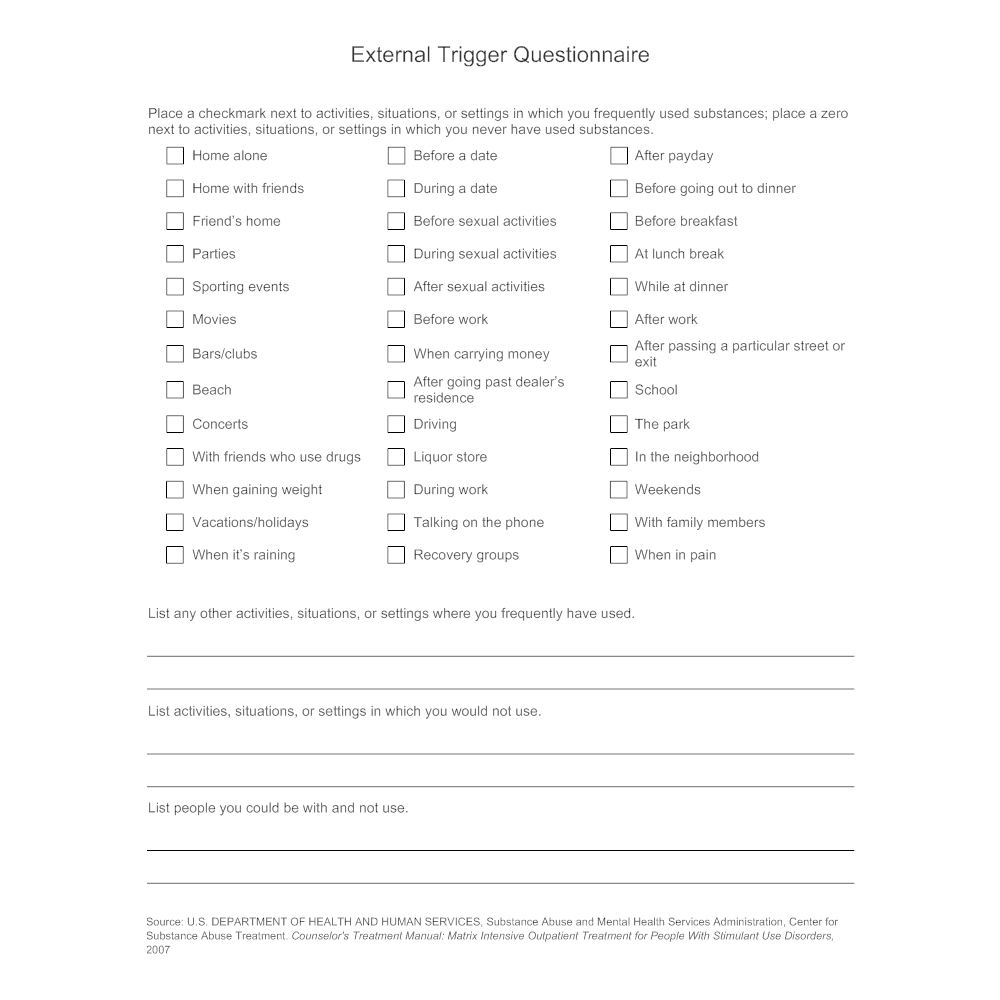 Example Image: External Trigger Questionnaire