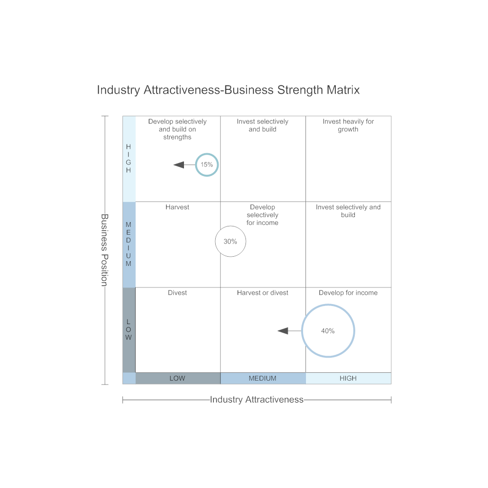 Example Image: Industry Attractiveness-Business Strength Matrix