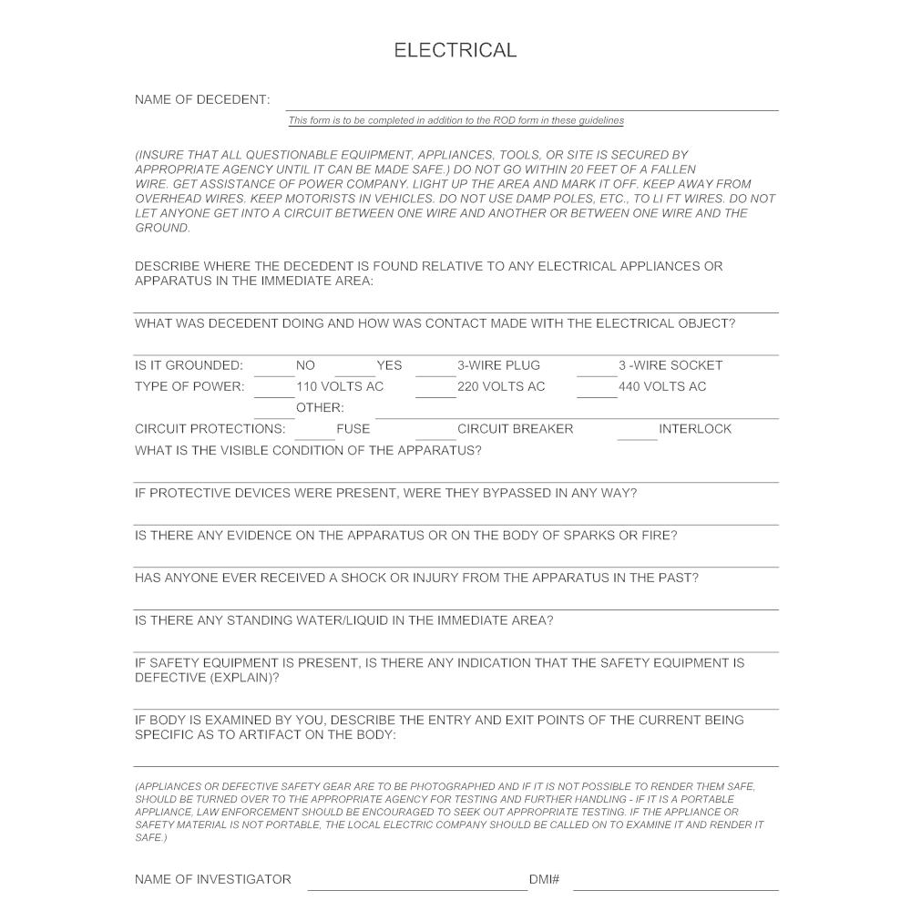 Example Image: Electrocution