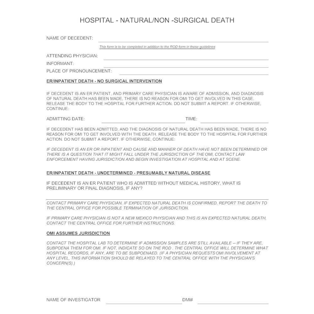 Example Image: Hospital - Non-Surgical Death