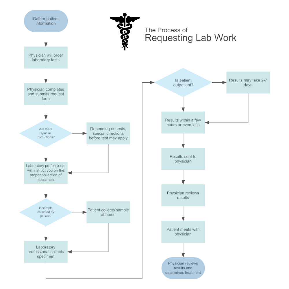 Requesting Lab Work Medical Process Flowchart
