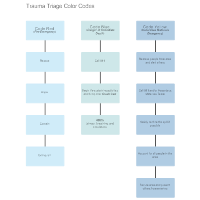 Trauma Triage Color Codes Flowchart