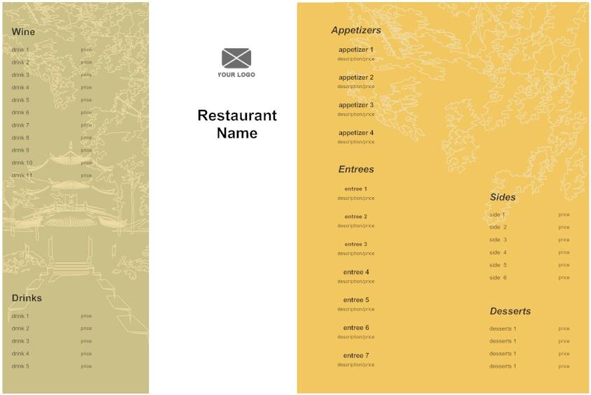 menu creating an effective menu design see examples