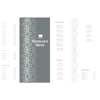 Bi-fold Menu Template