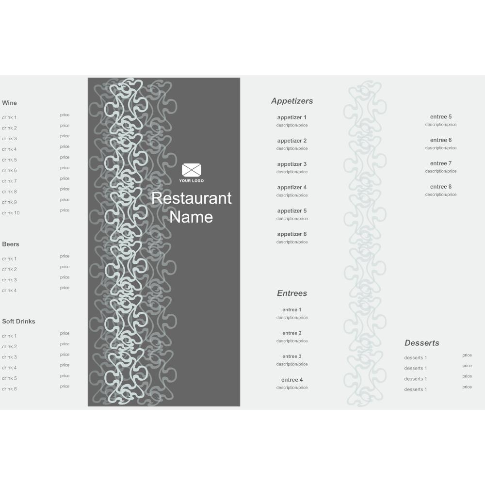 bi fold menu template