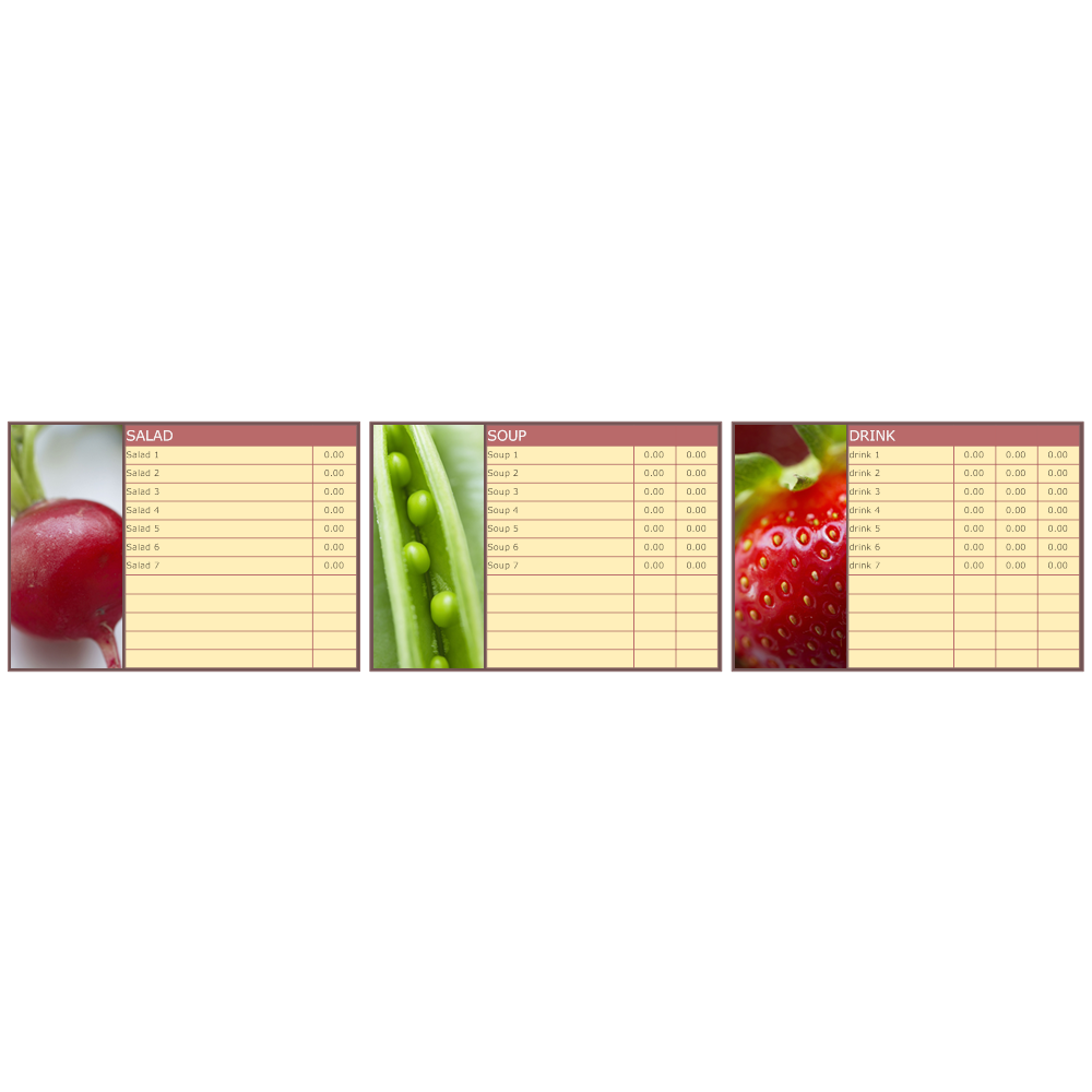 Example Image: Menu Board Example