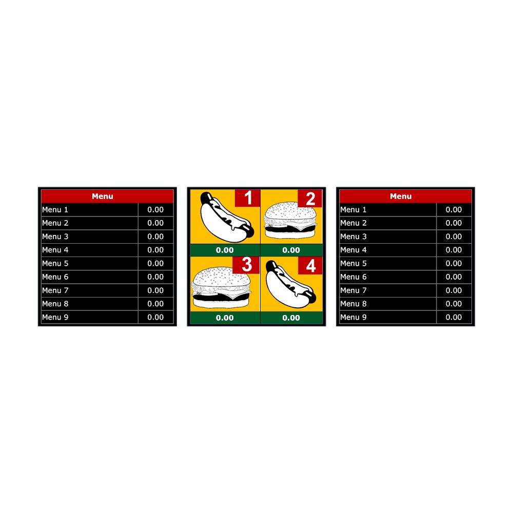 Example Image: Menu Board Template 2