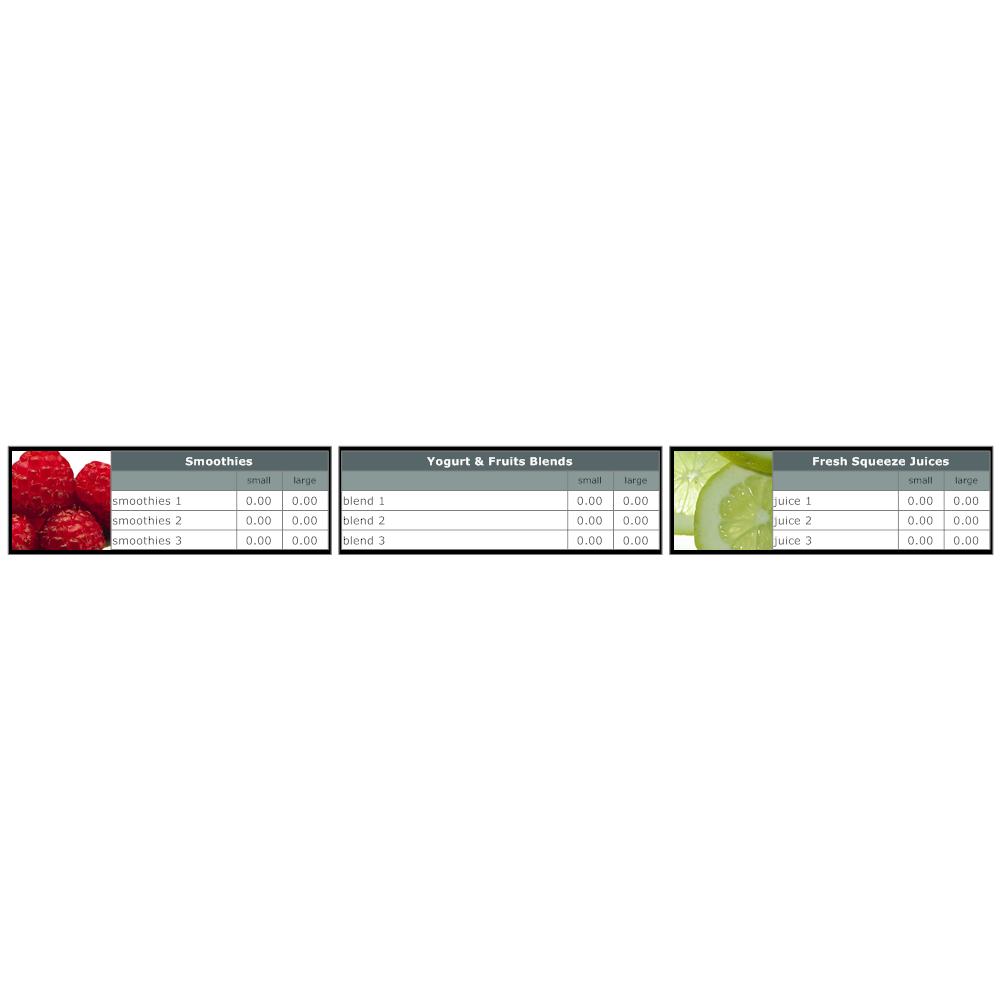 Example Image: Menu Board Template 3