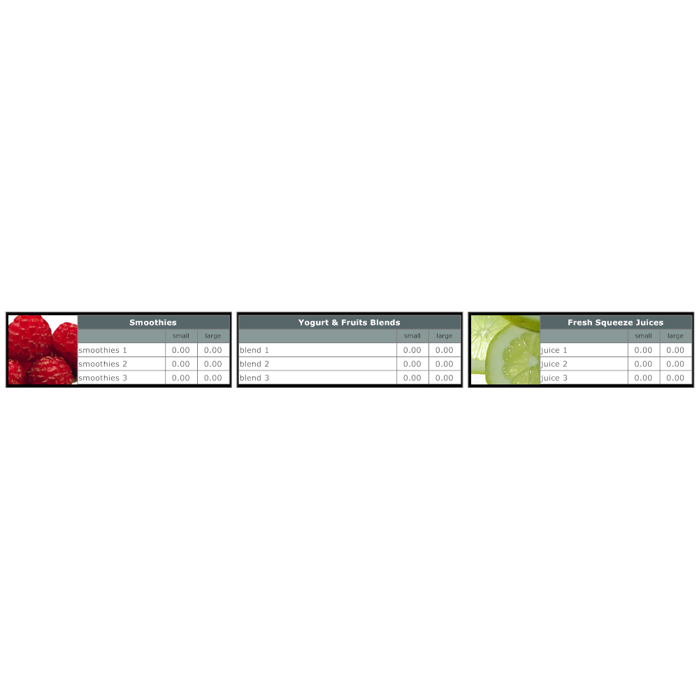 Example Image: Menu Board Template 3