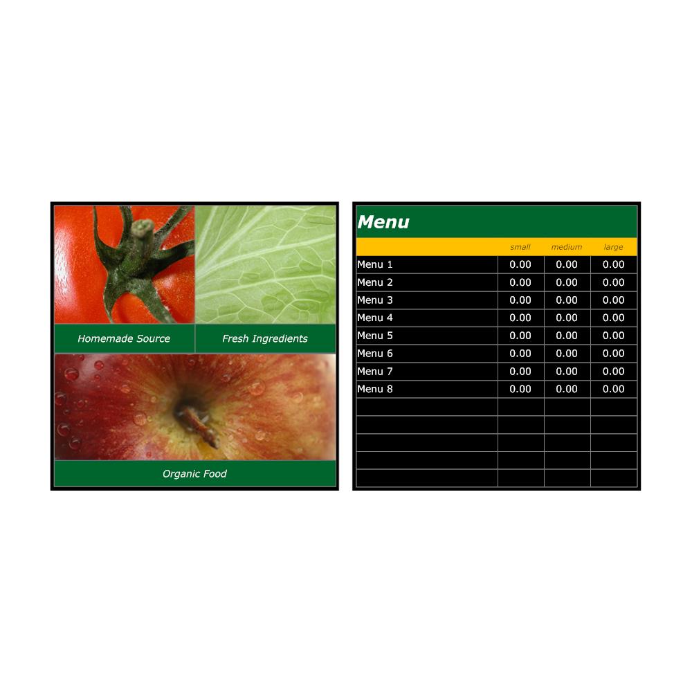 Menu Board Template - Small menu template