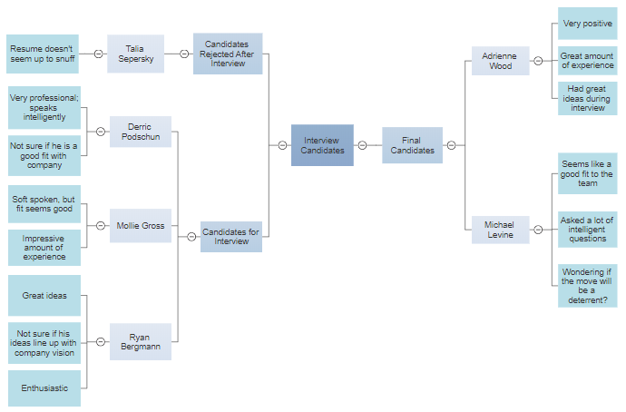 Decision making mind map