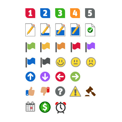 Mind map icons